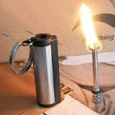 Survival Camping Hiking Emergency Fire Starter Flint Match Lighter KeyChain -- Visit the image link more details.