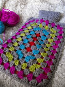 Granny Rectangle hot water bottle cover by Ruby murrays musings