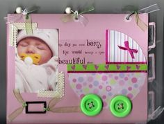 how cute.. Add pages for baby book along with a shower and visitor guest book Scrapbook Cover, Baby Scrapbook Pages, Kids Scrapbook, Scrapbook Albums, Scrapbooking Layouts, Scrapbook Cards, Book Layouts, Kids Cards, Baby Cards
