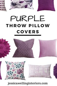 Home Decor On A Budget These cheap purple throw pillow covers come in every shad… - Modern Home Decor Hacks, Cute Home Decor, Retro Home Decor, Rooms Home Decor, Unique Home Decor, Home Decor Styles, Home Decor Items, Cheap Home Decor, Decor Ideas