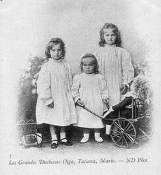 The three sisters:  Tatiana, Marie, and Olga.