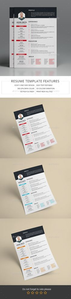 Stylish Resume Template Set Photoshop, Design resume and Cv design - is a cv a resume