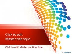 Free Rainbow Drops PPT Template