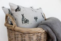 www.waringsathome.co.uk Laundry Basket, Wicker, Cushions, Organization, House Styles, Country, Home Decor, Throw Pillows, Getting Organized