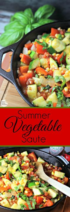 Summer Vegetable Saute | by Renee's Kitchen Adventures - Quick ...