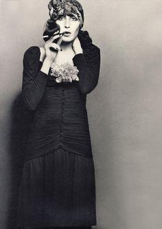 Angelica Huston by Richard Avedon, 1971.