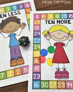 FREE - Ten More Ten Less!