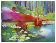 Melbourne Gardens ~ Peter Chope, watercolor