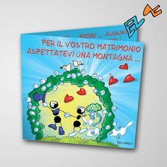 Biglietto musicale Matrimonio (FV07-11)   Le Formiche di Fabio Vettori #formiche #fabiovettori #biglietto #auguri #musica #music #fun #regalo #gift #matrimonio #innamorati #love