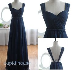 Sexy Cheap Navy Blue Black Prom Dress Simple Sweetheart A-line Long Floor-length Homecoming Dress Bridesmaid Dress Formal Dress 2014 on Etsy, $79.00