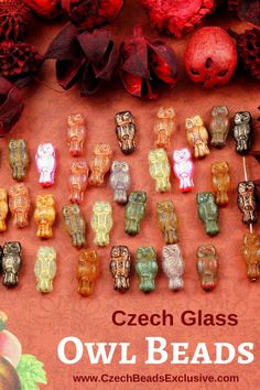 Czech Glass Owl Bird Halloween / Christmas Beads  14 Colors! - Buy now with discount!  Hurry up - sold out very fast! www.CzechBeadsExclusive.com/+owl owl bead pattern | owl beads | owl beaded bracelet | owl bead necklace | owl bead tutorial | owl bead bracelet | owl bead handmade | owl bead etsy | owl bead shops | owl bead products | owl bead beautiful | owl bead inspiration | bird beads | bird bead embroidery | bird bead pattern | bird beadwork | bird bead brooch | bird bead necklace…