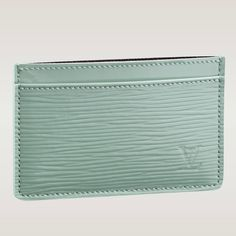 (Height*Depth) 3 X 4.3 inches  - Epi leather discreetly stamped with the LV initials, cross grain leather lining  - One large slot for bigger cards and receipts  - Two outside slots hold credit cards, business cards, transport cards and more  - Colors: Prune Electric, Amande Electric, Nior Electric
