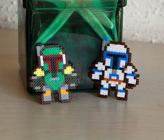 Jango & Boba Fett 2 Pin Star Wars Fan Art Brooch Accessories. €13.00, via Etsy.