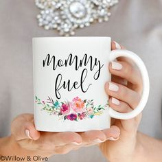 Mommy Fuel Mug, Mommy Fuel Coffee Mug, Gift for New Mom, Baby Shower Gift, Ceramic Mugs Inspirational Mug Mom Mug Quote Coffee Mug Cup Q0013 by WillowAndOlive on Etsy