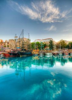 The old small harbour of Antalya - Turkey Antalya, Places Around The World, Around The Worlds, Istanbul, Places To Travel, Places To Go, Turkey Places, Need A Vacation, Turkey Travel