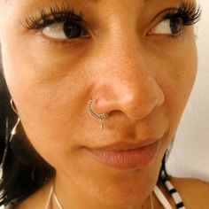 Silver Nose Ring - Silver Nose Hoop - Nose Jewelry - Nostril Hoop - Nose Piercing - Nose Earring - Nostril Ring - Nostril Jewelry