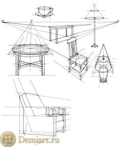 Brilliant Draw A Glass Ideas. Exquisite Draw A Glass Ideas. Perspective Drawing Lessons, Perspective Sketch, Point Perspective, Interior Design Sketches, Industrial Design Sketch, Basic Drawing, Technical Drawing, Drawing Furniture, Art Basics