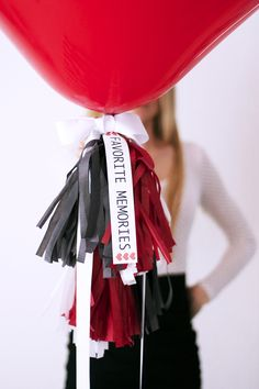 Valentine's Day Favorite Memories Balloon (This would also work for New Year's Eve)