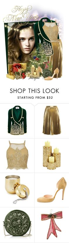 """1072"" by klukina-mv ❤ liked on Polyvore featuring DUO, Chanel, A.L.C., River Island, Two's Company, Christian Louboutin and Amara"