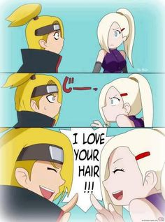 Deidara and Ino (Naruto Shippuden) | That's EXACTELY wahat I thought when I saw Deidara at first ! XD