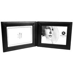 Andrew Philips Florentine Napa Leather Double 5x7 Landscape Picture Frame Black * Find out more about the great product at the image link.