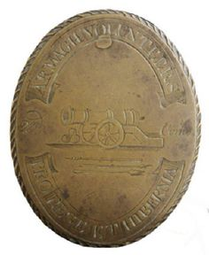 2nd ARMAGH ARTILLERY COMPANY, IRISH VOLUNTEERS, LATE 18TH C SHOULDER BELT PLATE