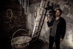 Ghost Adventures : Jay Wasley in the Ed Gein cauldron room, in Zak's Haunted Museum in Las Vegas.