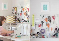 Quartos de costura charmosos e funcionais para trazer ideias de decoração e organização aos leitores que curtem fazer arte com linhas, agulhas e tecidos.
