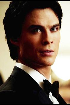 Ian Somerhalder-dang tho he's so hot and cute at the same time with his little bow tie!
