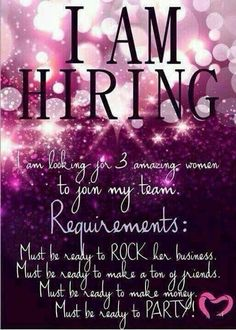 """I'm hiring! Join my Younique team! click """"Join"""" on my page or PM me! Plexus Products, Pure Products, Pure Romance Products, Avon Products, Health Products, Pure Romance Party, Mary Kay Party, Mary Kay Cosmetics, Fm Cosmetics"""