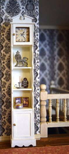 Miniature grandfather clock shelf | Nature's Soul Miniatures