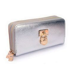 low-cost Michael Kors Hamilton Continental Lock Large Silver Wallets sales online, save up to 90% off being unfaithful limited offer, no tax and free shipping.#handbags #design #totebag #fashionbag #shoppingbag #womenbag #womensfashion #luxurydesign #luxurybag #michaelkors #handbagsale #michaelkorshandbags #totebag #shoppingbag