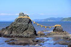 Meoto Iwa (the wedded rocks) in Futami, Ise Shima