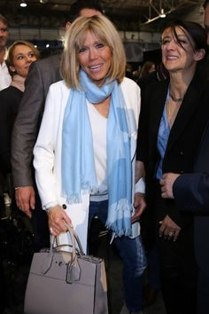 Brigitte Macron le 1er avril 2017