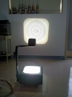 use doilies (or whatever else) at the projector for tracing. Sooo pretty!