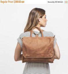 On Sale BROWN Leather Backpack School Backpack Laptop por MeitaLev