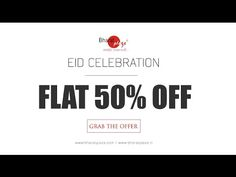 Grab the #biggest #sale on ethnic clothes this #EID. Shop online and get flat 50% off on #sarees #lehengas #mensWear #bridalWear #kurtis #nehruJackets #sherwanis & more