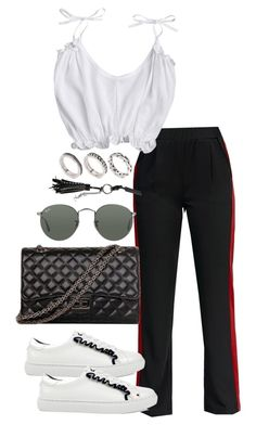 """Untitled #4479"" by theeuropeancloset ❤ liked on Polyvore featuring ASOS, Ray-Ban and Yves Saint Laurent"
