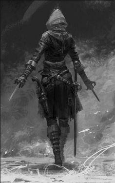 spassundspiele: Assassin – fantasy character concept by su jian