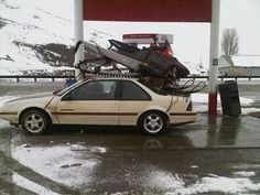 You are doing it wrong... Anything to go #snowmobiling