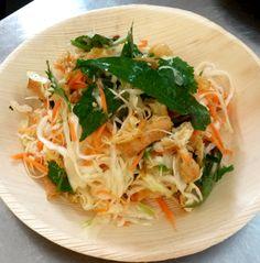 On the menu GỎI CHAY Crunchy salad with tofu