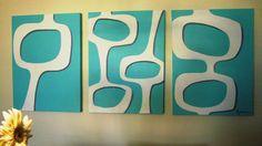 ideas mid century modern art painting style for 2019 Modern Pop Art, Modern Artwork, Modern Paintings, Graphic Design Pattern, Modern Graphic Design, Design Patterns, Mid Century Modern Decor, Mid Century Art, Simple Art