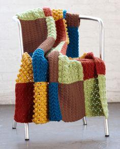 Crochet Sampler Throw, skill level intermediate  I like all the textures