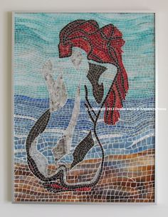 Mosaic Glass Wall Art by ArtGoesToPieces on Etsy