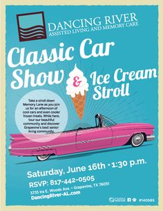 This Saturday, take a stroll down Memory Lane as you join us for an afternoon of cool cars and even cooler frozen treats. While here, tour our beautiful community and discover Grapevine's best senior living community!