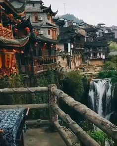 Furong ancient town in the Hunan Province of China has a beautiful nature landscape, rich Tujia ethnic folk customs and is also a perfect… Beautiful Places To Travel, Cool Places To Visit, Zhangjiajie, China Travel, Italy Travel, Travel Aesthetic, Vacation Trips, Travel Around The World, Longchamp