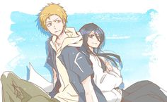 Shared by Misaki-sama. Find images and videos about love, couple and anime on We Heart It - the app to get lost in what you love. Ichigo X Rukia, Bleach Anime, Bleach Ichigo And Rukia, Bleach Fanart, Manga, Bleach Couples, Bleach Characters, Shinigami, Slayer Anime
