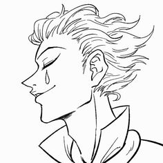 Hisoka, Character Drawing, Character Design, Anime Boy Sketch, Manga Anime, Anime Art, Anime Lineart, Manga Drawing Tutorials, Hunter Anime