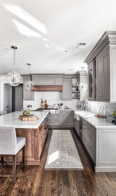 Uplifting Kitchen Remodeling Choosing Your New Kitchen Cabinets Ideas. Delightful Kitchen Remodeling Choosing Your New Kitchen Cabinets Ideas. Grey Kitchen Designs, Kitchen Designs Photos, Interior Design Kitchen, Kitchen Photos, Color Interior, Home Decor Kitchen, Kitchen And Bath, New Kitchen, Wooden Kitchen