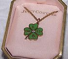 Juicy Couture 4 Leaf CLover Necklace  Box - amp, Clover, Couture, Juicy, Leaf, Necklace - http://designerjewelrygalleria.com/juicy-couture/juicy-couture-necklaces/juicy-couture-4-leaf-clover-necklace-box/